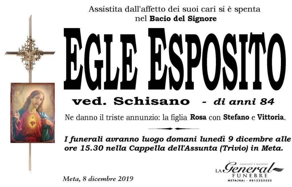 Meta. Lutto per la scomparsa di Egle Schisano
