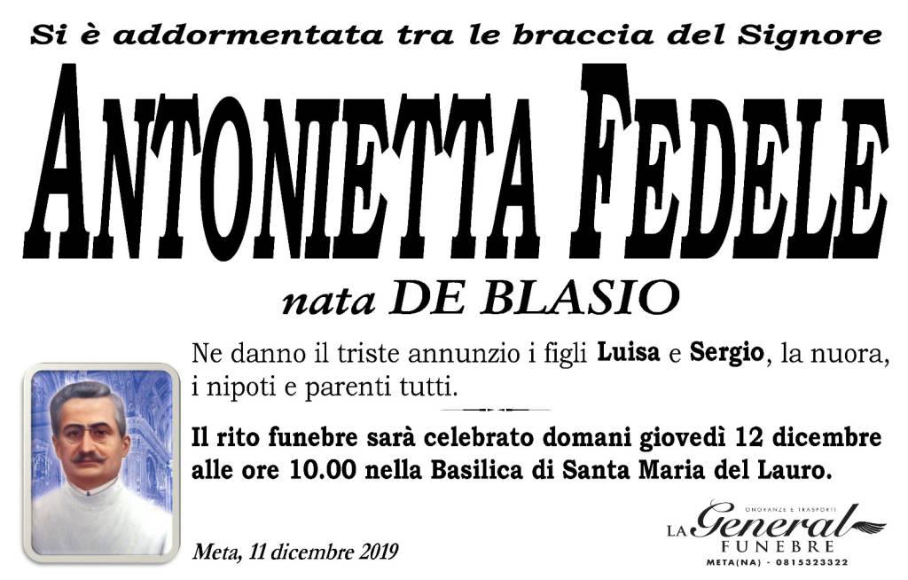 Meta piange la scomparsa di Antonietta Fedele