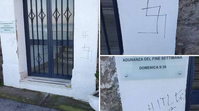 Meta Sorrento atto di nazismo dai testimoni di Geova