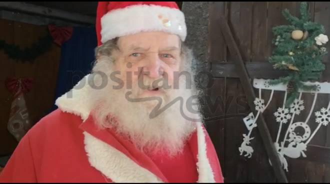 Piano di Sorrento. Le foto di Babbo Natale alla casa di riposo