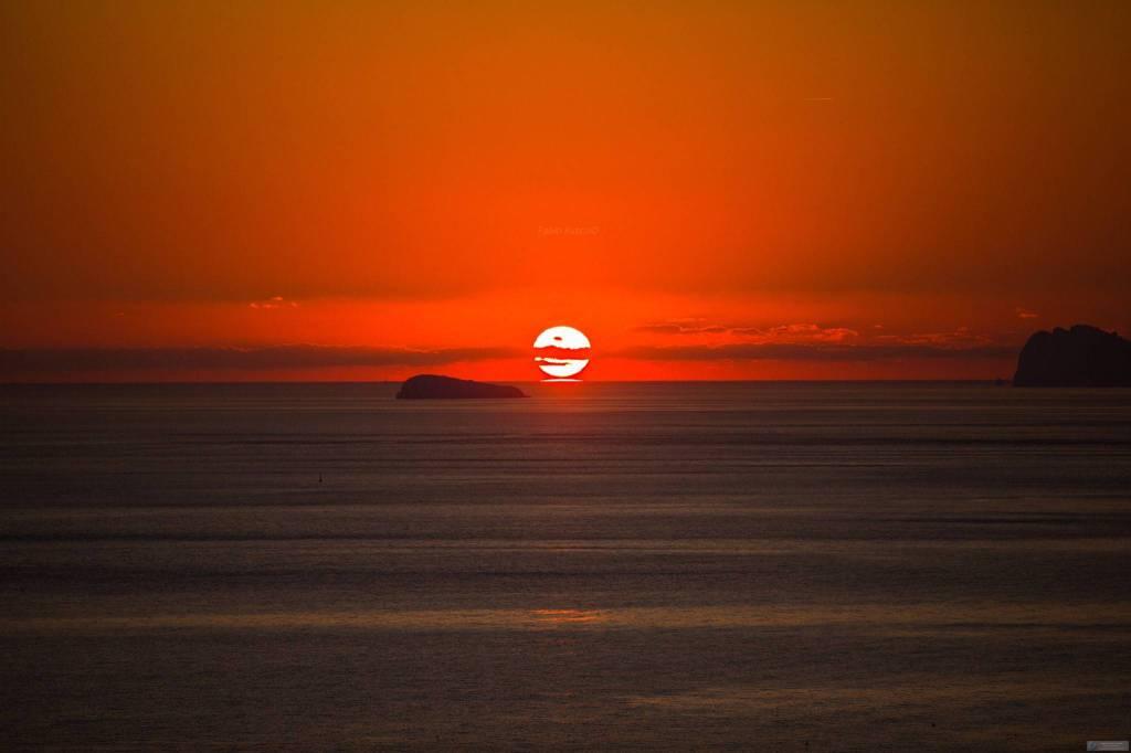 Positano . L'ultimo tramonto dell'anno 2019