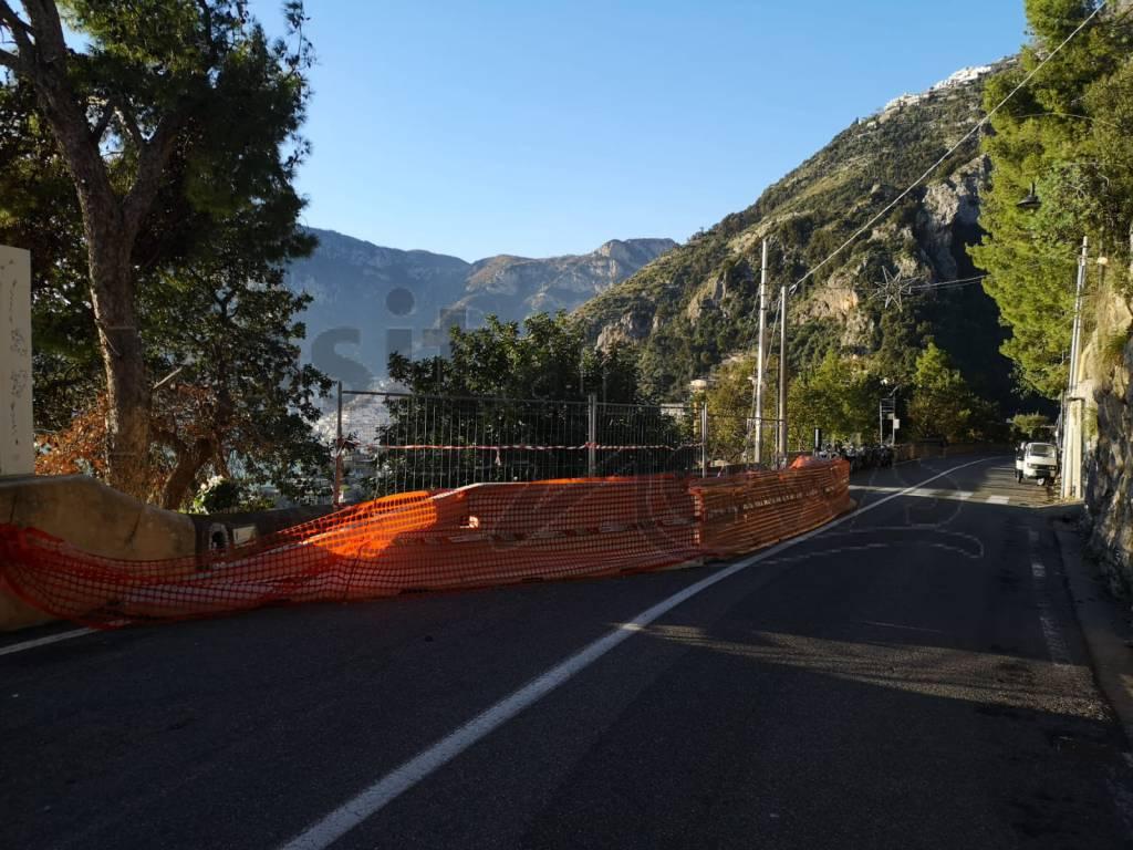 Positano. Strada crollata a Laurito