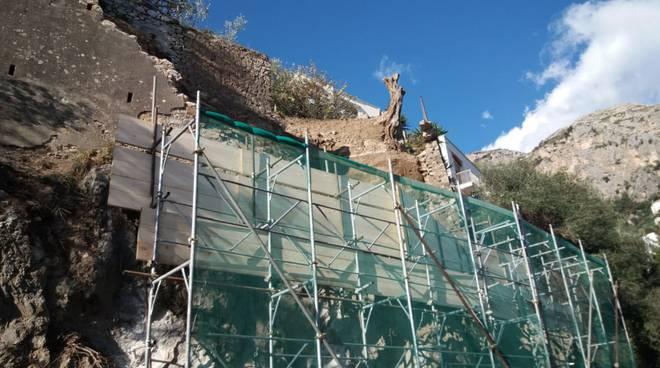 Amalfi lavori a Vettica per la frana