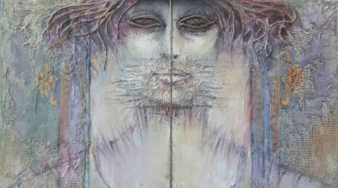 Antonio Ciraci, ARACNE 2, Mytho's Portraits,_ 2019, cm 50 x 40, tecnica  mista su tela