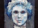 Antonio Ciraci, SELENE, Ritratti del Mito, 2019, cm.30x21, tecnica mista su compensato
