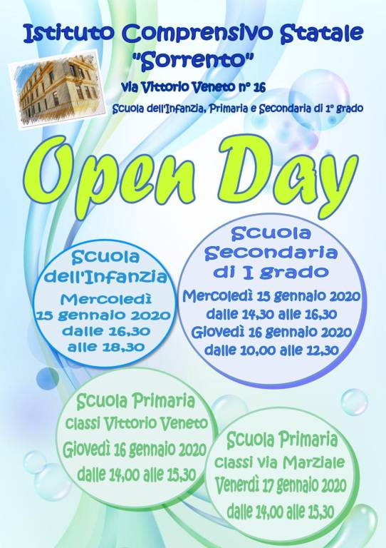 Open day all'Ic Sorrento
