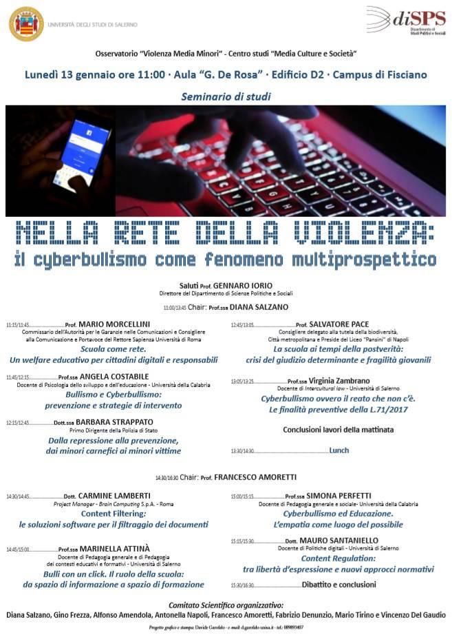 convegno cyberbullismo campus fisciano