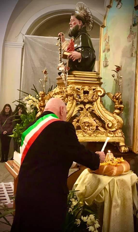 Sant'Antonio Abate col sindaco di Agerola Luca Mascolo
