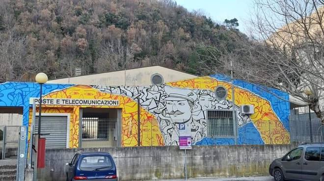 Tramonti Street art ufficio postale