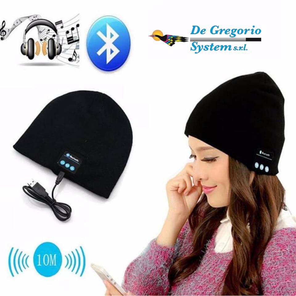cappello auricolari bluetooth de gregorio system