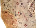 A Napoli l\'agenda con la mappa dell\'ammiraglio ottomano Piri Reis (1465 - 1554)