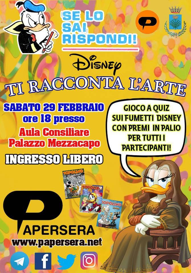 """Gran Carnevale di Maiori. Sabato 29 febbraio """"Disney ti racconta l'arte"""""""