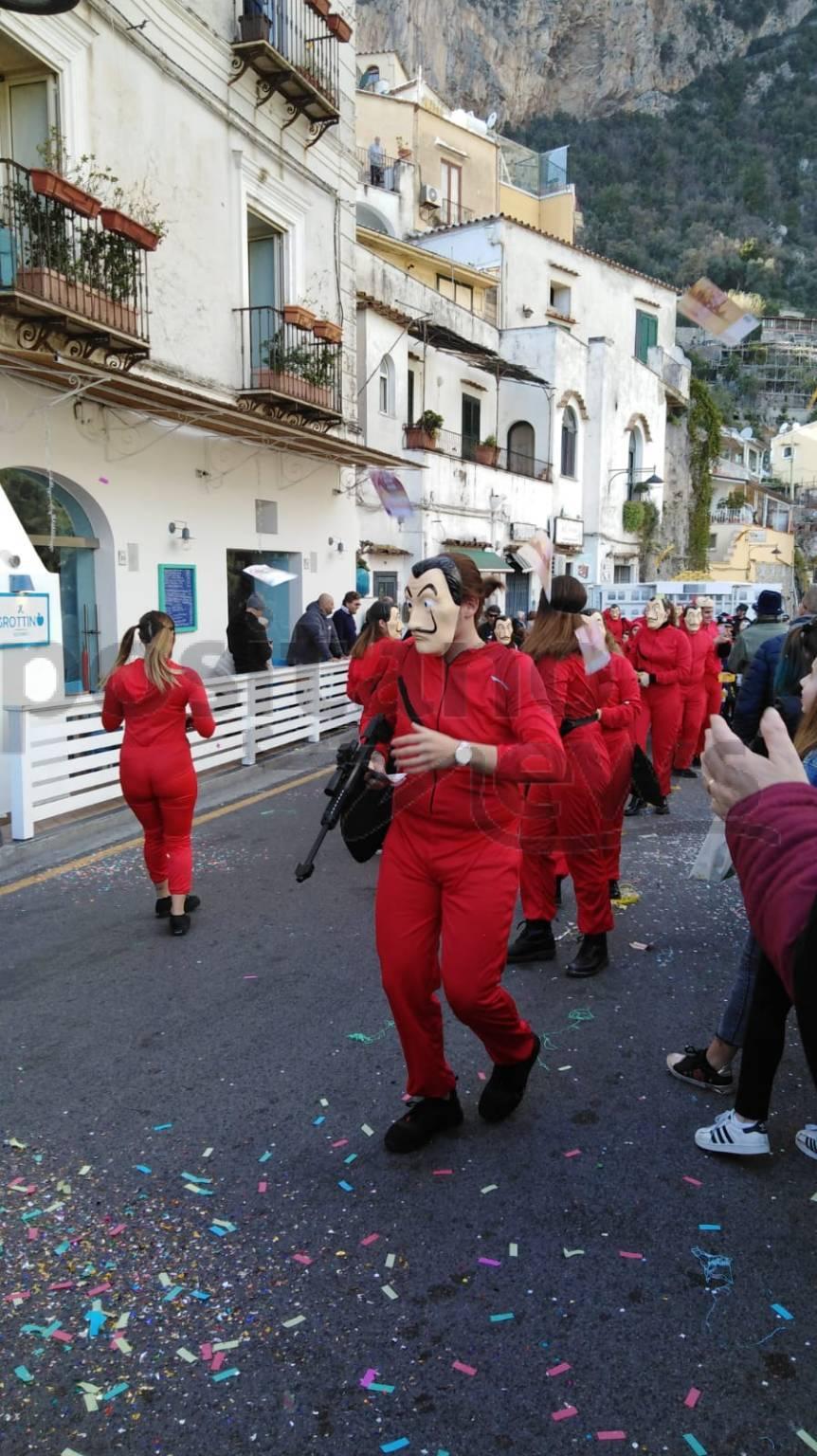 Positano, festeggiamenti Carnevale 2020