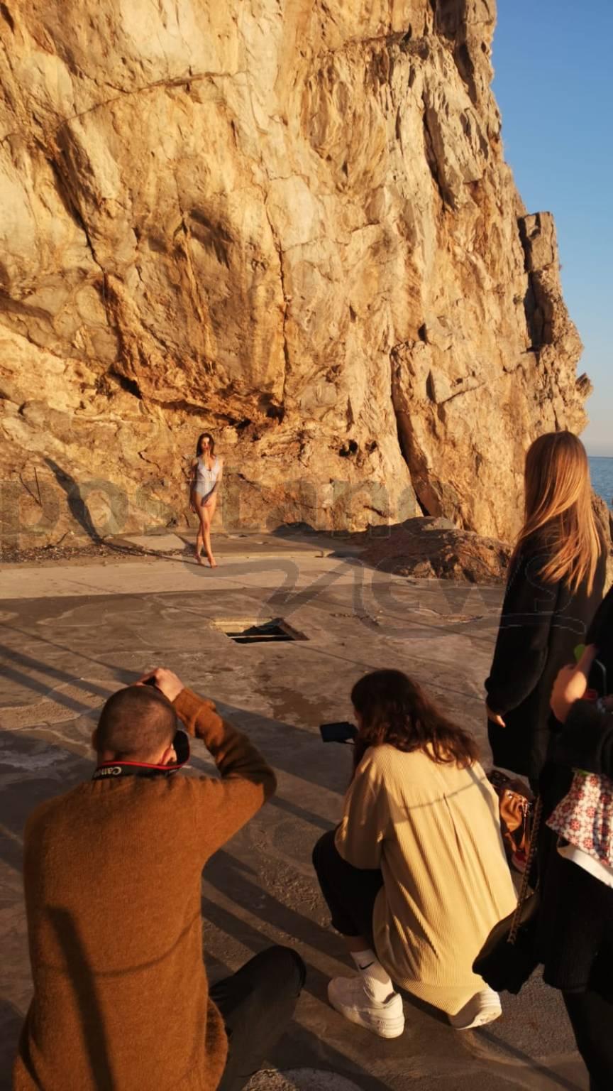Positano. Shooting per i costumi di Francesca Cretella