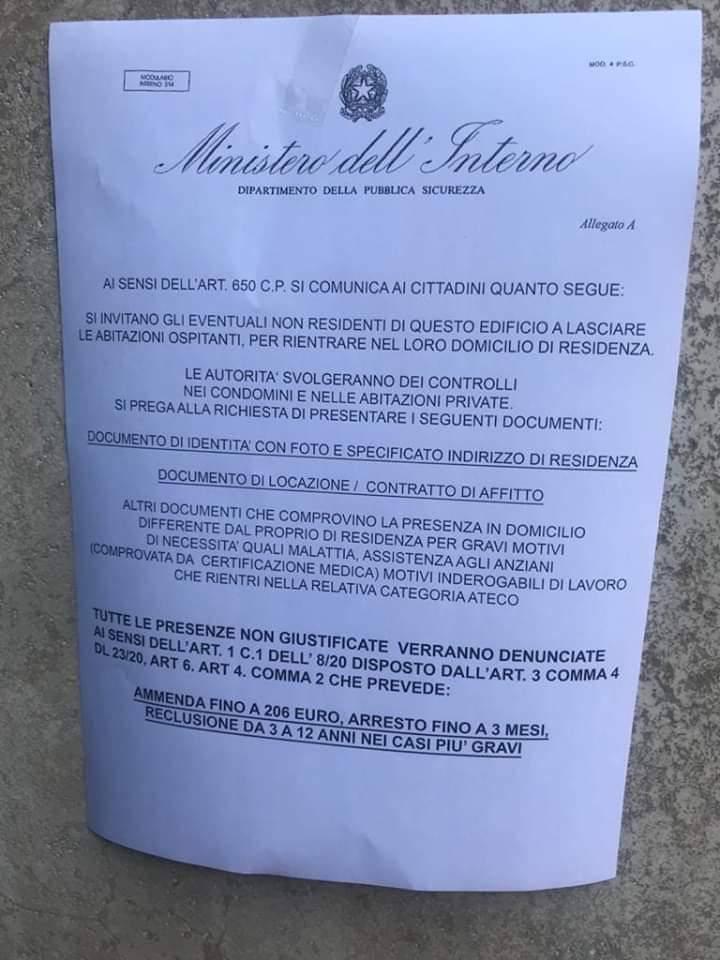 """Napoli, falsi volantini del Ministero dell'Interno: """"Controlli ..."""