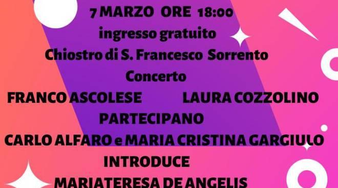 Sorrento: il 7 marzo al Chiostro di San Francesco si celebra la donna