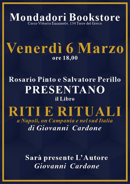 Presentazione del libro Riti e Rituali presso la libreria Mondadori Bookstore di Torre del Greco