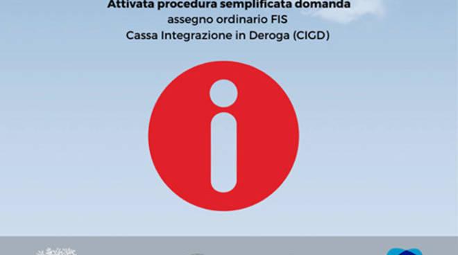 Attivata procedura semplificata per le operazioni di domanda di assegno ordinario FIS e di Cassa Integrazione in Deroga (CIGD) per l'emergenza Coronavirus.