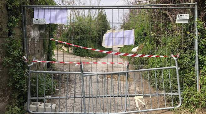 corbara pentangelo chiude due strade jogging