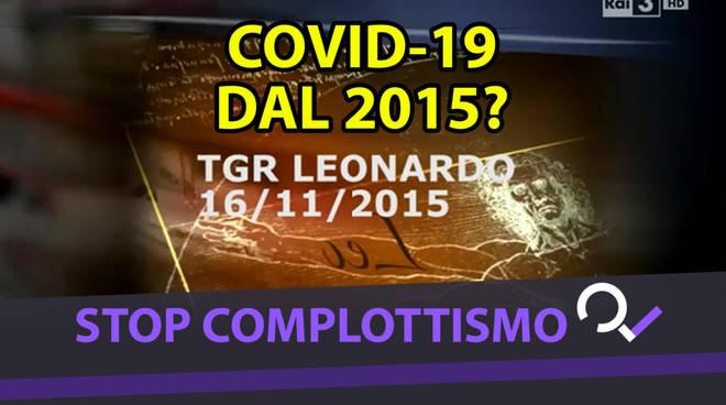 Covid 19 creato nel 2015 video di Leonardo