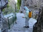 Positano, interventi di sanificazione anche a Montepertuso e Nocelle
