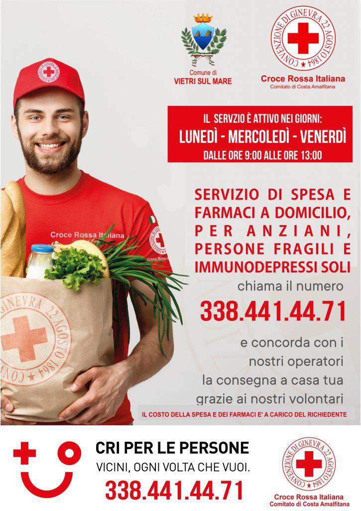 Vietri sul Mare. Da oggi attivo il Servizio della Croce Rossa, in aiuto dei più deboli