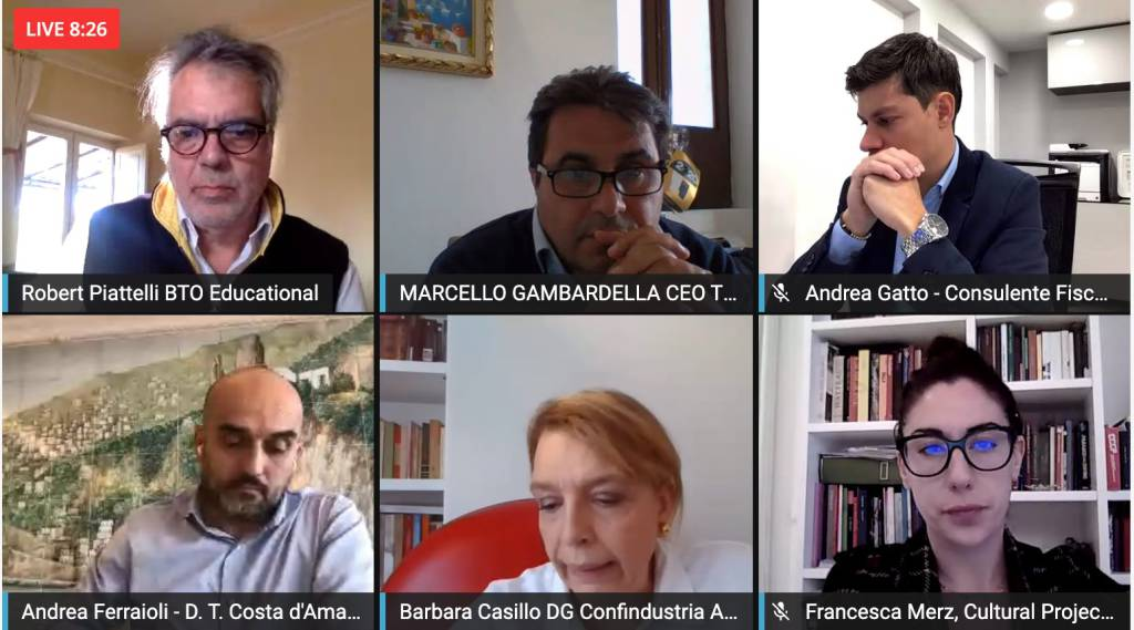 webinar cura Italia Distretto Costa d' Amalfi