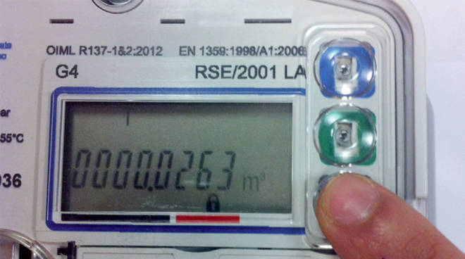 Contatore del gas: continua l'installazione dei modelli elettronici