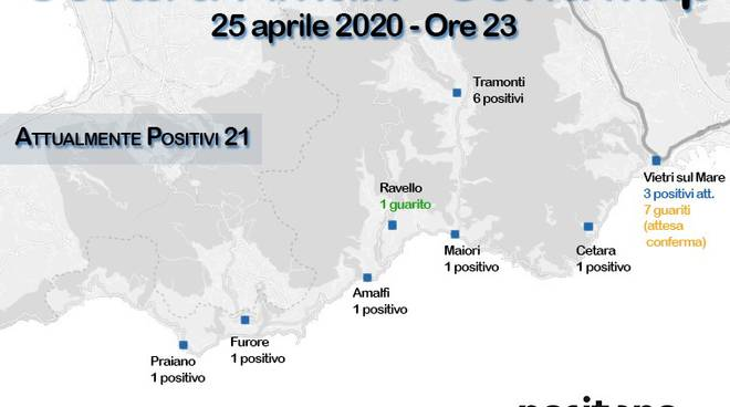 Covid Map Costiera amalfitana