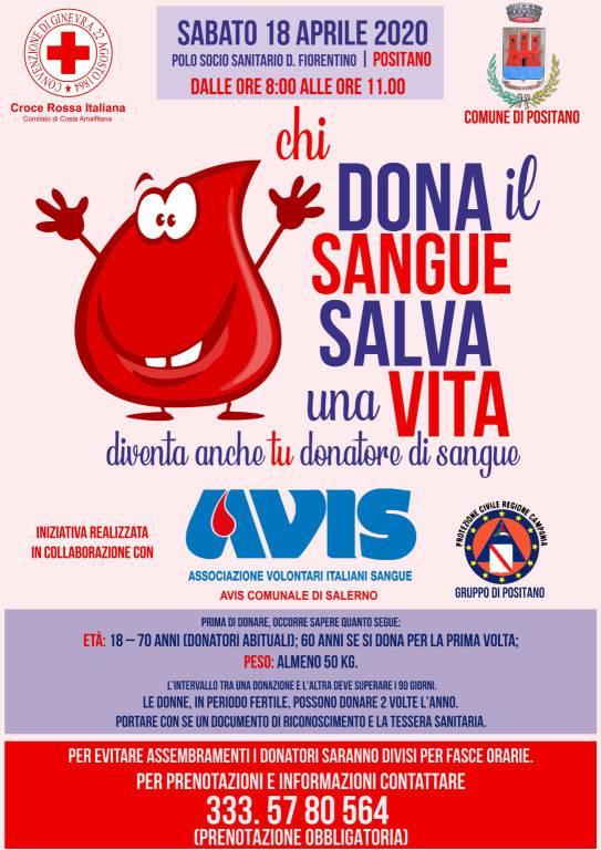 donazioni sangue positano