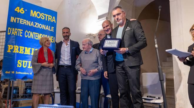 Foto Salvatore Mancini - Gaetano Pallozzi al centro alla 46esina edizione del Premio Sulmona