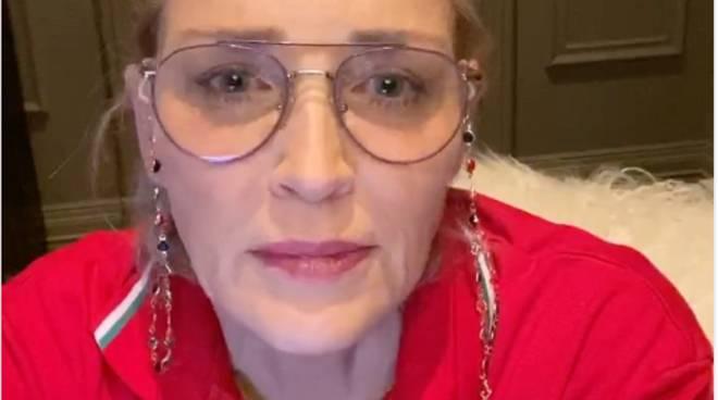 Sharon Stone ringrazia la Croce Rossa Italiana