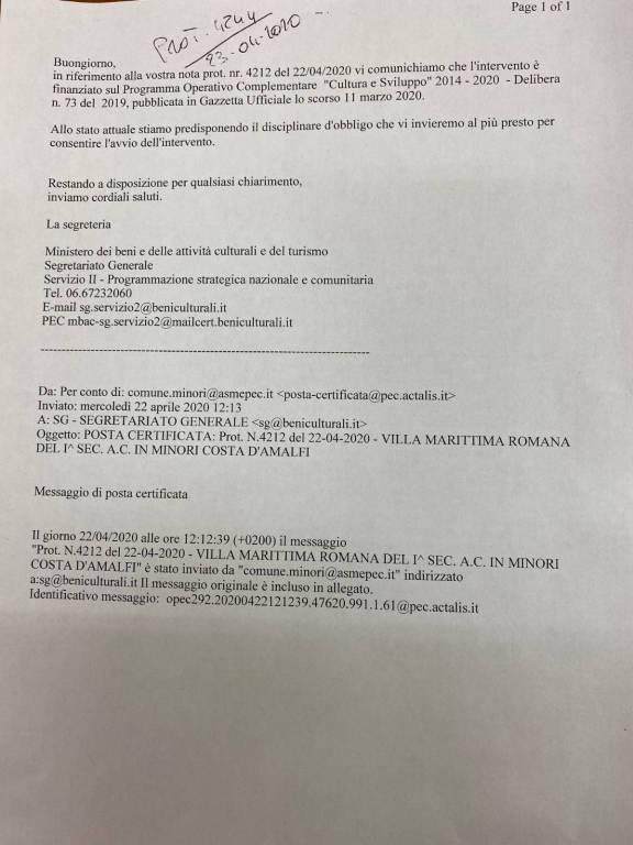 villa romana minori mibact restauro