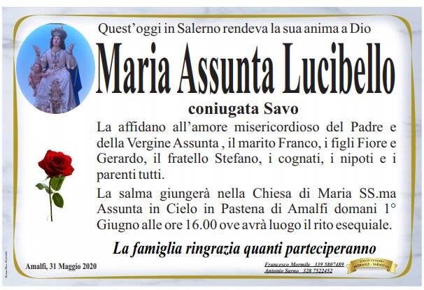 Amalfi. Ci ha lasciati Maria Assunta Lucibello, coniugata Savo