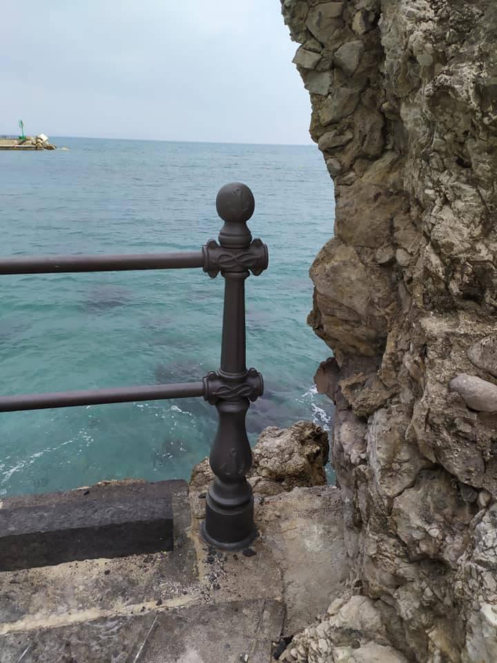 Amalfi lavori alla Marinella