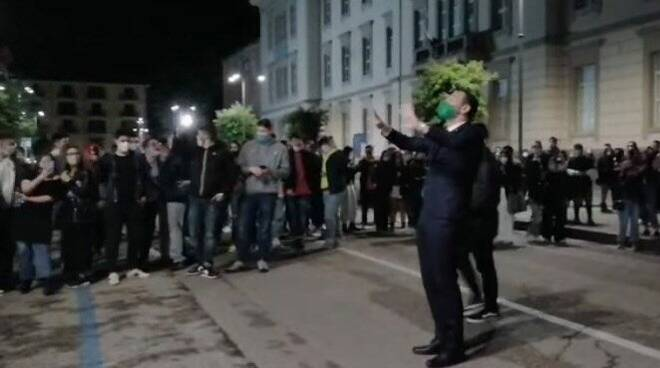 Avellino giovani col sindaco Festa