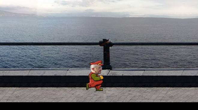 De Luca diventa Super Mario, appare in rete un videogioco parodia