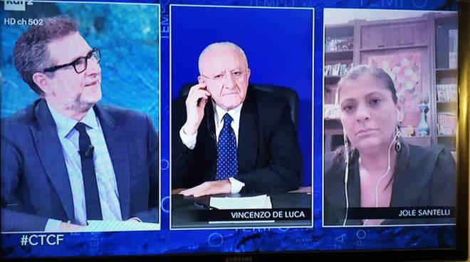 De Luca show a Che Tempo Che Fa: chiama Fratacchione Fabio Fazio