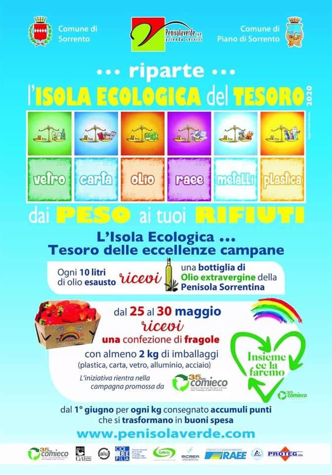 isola ecologica tesoro maggio 2020