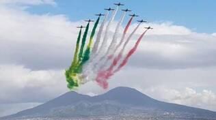 Le Frecce Tricolori sul Golfo di Napoli