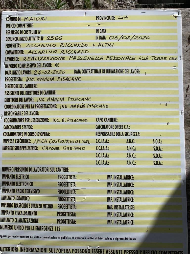 Maiori, lavori alla Torre di Erchie: Italia Nostra e Unesco di Amalfi chiedono lo stop