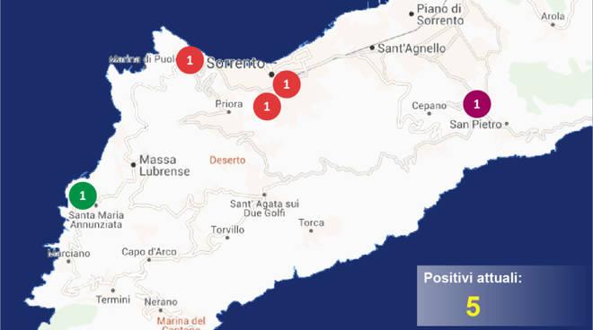 penisola sorrentina covid map 14 maggio