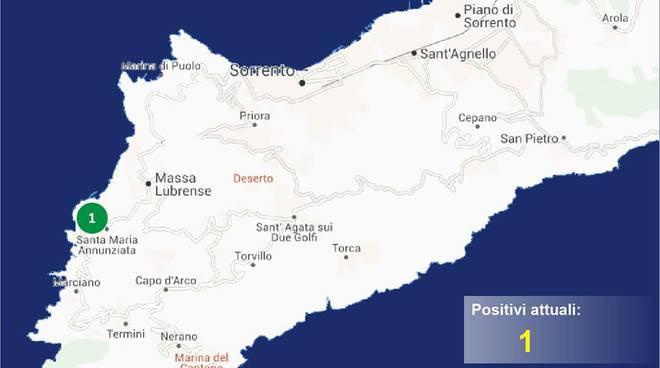 penisola sorrentina covid map 23 maggio