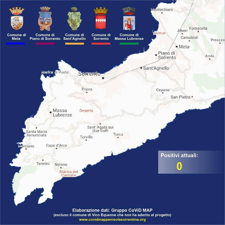 penisola sorrentina covid map 25 maggio