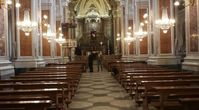 Piano di Sorrento. Misure di sicurezza nella Basilica di San Michele
