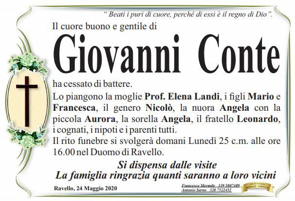 Ravello in lutto per la perdita di Giovanni Conte