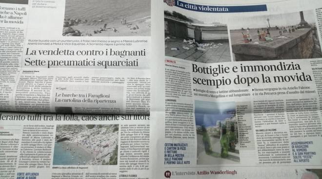 Spiagge situazione i giornali di oggi