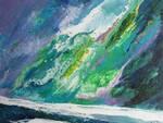 Antonio Corbo - Aurora boreale 2020- acrilico su tela - cm. 40x50