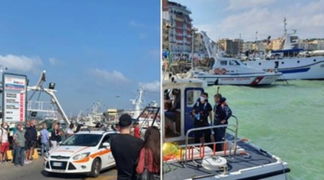 Anzio, peschereccio si ribalta davanti al porto: un morto e due feriti
