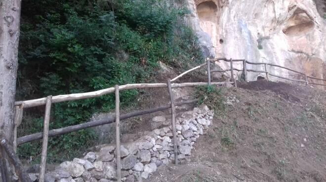 Atrani. Riqualificato e ripristinato il sentiero che porta alle Nuove Grotte